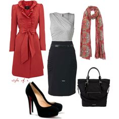 """Red at work"" by styleofe on Polyvore"
