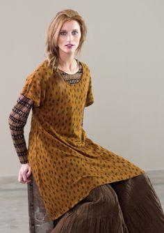"""""""Singla"""" knitted linen tunic – GUDRUN SJÖDÉN"""