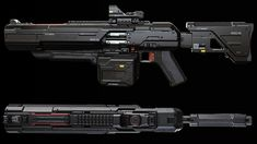 Primary armament for Boundary Corpmen during re-equiping in 2030 A. Sci Fi Weapons, Weapon Concept Art, Fantasy Weapons, Weapons Guns, Guns And Ammo, Military Gear, Military Weapons, Rifles, Armas Ninja