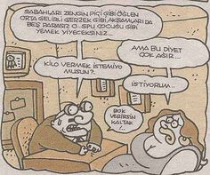 Kilo vermek karikatür. Ankara, Istanbul, Makeup Sites, Bob Ross, Hilarious, Funny, Lace Knitting, Satan, Peanuts Comics