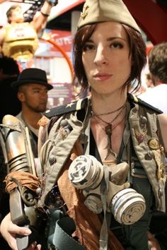 Inspiration: Post Apocalyptic Zombie Hunters, excited about that because of how awesome the hat is. Apocalypse Fashion, Post Apocalypse, Dystopia Rising, Wasteland Weekend, Zombie Hunter, Doomsday Prepping, Dress For Success, Dieselpunk, Steampunk Fashion