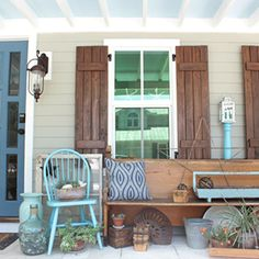 I love everything about this porch!  BHG.com/party.