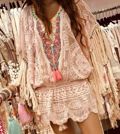 Bohemian Fashion - Pink ibiza Crochet Top