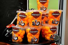 Harley Davidson Motorcycle Party Birthday Party Ideas In 2019 Motorcycle Birthday Parties, Biker Birthday, Dirt Bike Party, Motorcycle Party, 60th Birthday Party, Motorcycle Touring, Birthday Ideas, Harley Davidson Birthday, Harley Davidson Party Theme