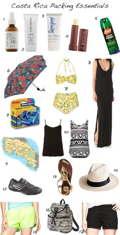 Id Absolutely Love To...: do this: packing essentials for a trip to Costa Rica