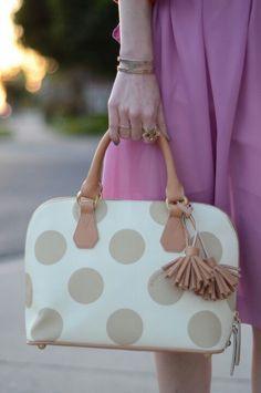The cutest polka dot purse!