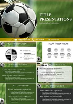 Ball into the Goal PowerPoint templates