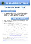 30 Million Word Gap (English Full Page)