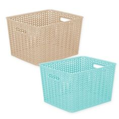 A Simplify Herringbone Storage Tote is a great addition to any home or work space. Made of durable plastic, with a chic herringbone pattern, this sturdy and stylish tote bin helps hide messes and gives your a room a neat look. Gold Room Decor, Bedroom Decor For Small Rooms, Gold Rooms, Cute Room Decor, Stylish Bedroom, Kids Storage Bins, Tote Storage, Storage Baskets, Baby Closet Organization