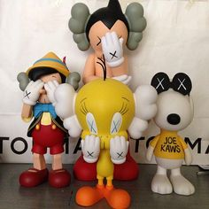 KAWS>Companion (Pinocchio, AstroBoy, Snoopy, and Tweety)