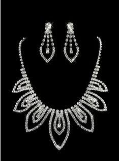 argent dames strass pièce deux des amende fixée la conception de bijoux de mariage (45 cm) (011005825)