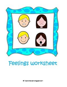 Worksheet with several activities and fun games.The worksheets (English and Spanish) Include:blank face for girl and boycut and paste cards for each feeling mouth and eyesSynonyms gameFeelings included:angry, bored, calm, excited, happy, sad, scared, nervous, sick, sleepy, surprised