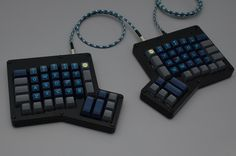 Ergonomic Mechanical Keyboards Turn Pain Relief Into A Small Business Must Have Gadgets, Gadgets And Gizmos, Computer Keyboard, Matte Black, Hardware, Typewriter, Pain Relief, Villas, Programming