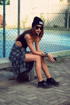cute,...everything but those shoes. Eould do platform heals instead