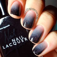 21 Gradient Nails Art Ideas You'll Wish To Try This Season - Beautiful nails - Nageldesign Ombre Nail Designs, Black Nail Designs, Nail Art Designs, Nails Design, Salon Design, Stylish Nails, Trendy Nails, Cute Nails, Gel Nails