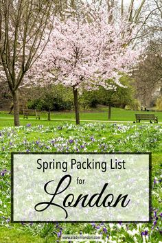 A lovely spring packing list for London. #london #spring