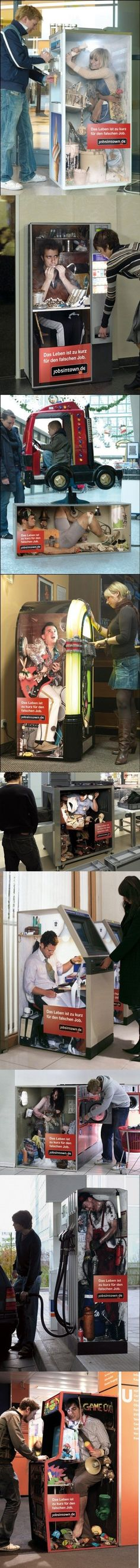 (14) Which are some of the funniest, most clever advertisements? - Quora - people captured in machines- well executed