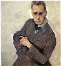 The Composer Anton von Webern, by Max Oppenheimer (Austrian 1885 - Classical Music Composers, Art Of Man, Anton, Mixed Media Art, Mix Media, Painting & Drawing, Oil On Canvas, Artist, Artwork