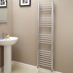 Eco Heat 1600 x 400 Straight Chrome Heated Towel Rail  - Stainless Steel Bathroom Radiators - Better Bathrooms