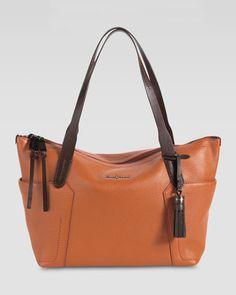 Parker+Zip-Top+Shopper+Tote+Bag,+Orange+by+Cole+Haan+at+Neiman+Marcus.