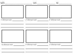 Storyboard Templates 16x9 Thumbnails