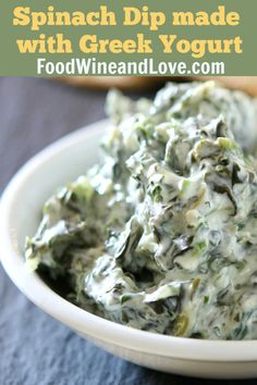 Spinach Dip Made With Greek Yogurt YUMMY and Healthy! Spinach Dip Made With Greek Yogurt, this easy and healthy appetizer recipe is perfect for anyone looking for a great tasting dip to serve up. Healthy Spinach Dip, Healthy Dips, Healthy Appetizers, Appetizer Recipes, Healthy Eating, Healthy Recipes, Dip Recipes, Sweet Recipes, Greek Appetizers