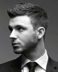 Mens Clean-cut Faux Hawk Hairstyle