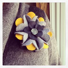 DIY Felt Flower Brooch