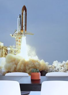 Space Shuttle Takeoff Wall Mural Part 65