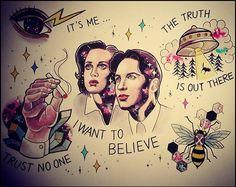 X-Files flash, artist unknown