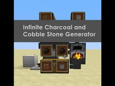 Infinite Everlasting Cobble Stone and Charcoal Generator - YouTube