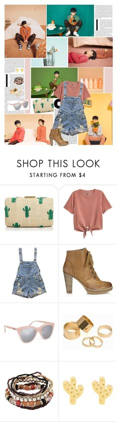 """""""I discovered it with a single kiss"""" by angiielf ❤ liked on Polyvore featuring Kayu, H&M, Jigsaw, Quay, Pieces, kpop and Zico"""