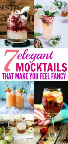 7 Elegant Mocktails That Make You Feel Fancy – XO, Katie Rosario Mocktails alkoholfreie Getränke Easy Mocktails, Mocktail Drinks, Alcholic Drinks, Non Alcoholic Cocktails, Refreshing Drinks, Summer Drinks, Alcoholic Shots, Alcoholic Desserts, Non Alcoholic Drinks For Wedding