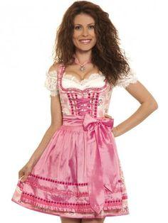 Damen Minidirndl Clarissa (pink, creme) - Krüger Madl - Dirndl & Trachten Shop - trachten-fashion.de