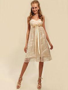 Lace Empire Waist Bridesmaid Dress