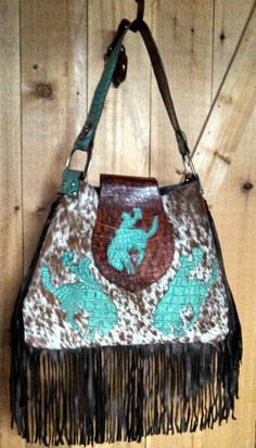 Buckin Bronc Hobo Purse...I want this purse but without the fringe