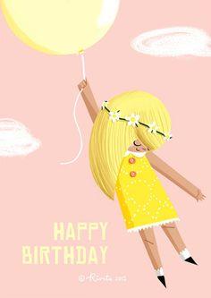 ┌iiiii┐                                                              Happy Birthday  by Kirstie Edmunds