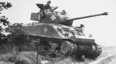 Sherman Firefly captured by Germans