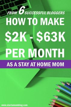 How be a stay at home mom and make money blogging. From 6 Small, Medium and Large Mom Bloggers - They make $3K to $63K a month - And the best way to make money with…