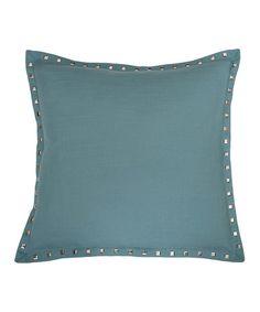 Look at this #zulilyfind! Baltic Blue Nailhead Throw Pillow #zulilyfinds