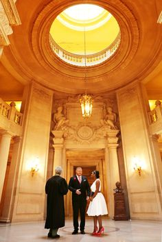 You'll Forget All About Fancy Weddings When You See This Couple's City Hall Nuptials