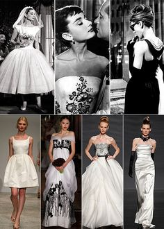 Audrey Hepburn style LOVE this! www.atyourserviceweddings.net