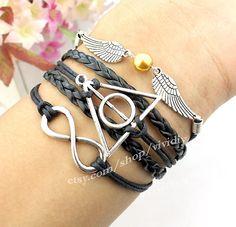 gold bead jewelry snitch harry potter bracelet Infinity by vividiy, $5.99