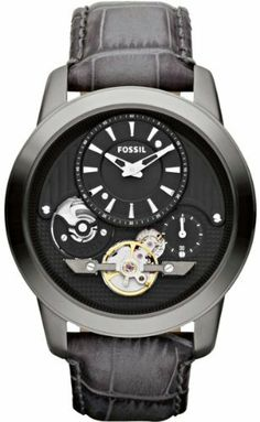Fossil Grant Twist Leather Watch - Grey Fossil. $133.71. Model: ME1126. Dial color: black. Band color: gray croc-embossed. Condition:brand new with tags. Brand:Fossil. Save 24%!