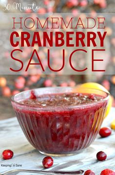 So many people take shortcuts and buy canned cranberry sauce. Here's a SUPER EASY cranberry sauce that takes less than 30 minutes. #Thanksgivingdinner #ThanksgivingRecipe #CranberrySauce #CranberrySauceRecipe #EasyCranberrySauce #30MinuteCranberrySauce #ChristmasFood #ChristmasDinner #HolidayRecipe #ChristmasRecipe