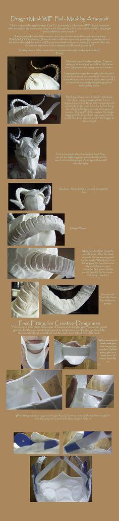 Dragon Mask, Horn WIP by SagaWolf on deviantART