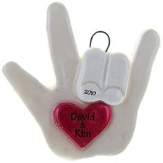 Sign Language Ornament Love You Handmade Dough | Ornaments and More