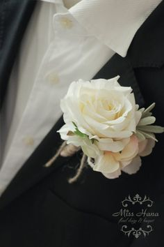 Rustic Boutonniere, Hydrangea Boutonniere, Ivory Rose Boutonniere, Rustic Buttonhole, Twine and Burlap Wedding, Groomsmen Flowers, corsage