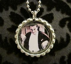 Bela Lugosi Dracula Bottle Cap Necklace or by AdAstraEmporium, $6.00
