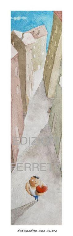 DIEGO SANTINI Giclee art print con ritocchi a mano - tiratura limitata - 16x56